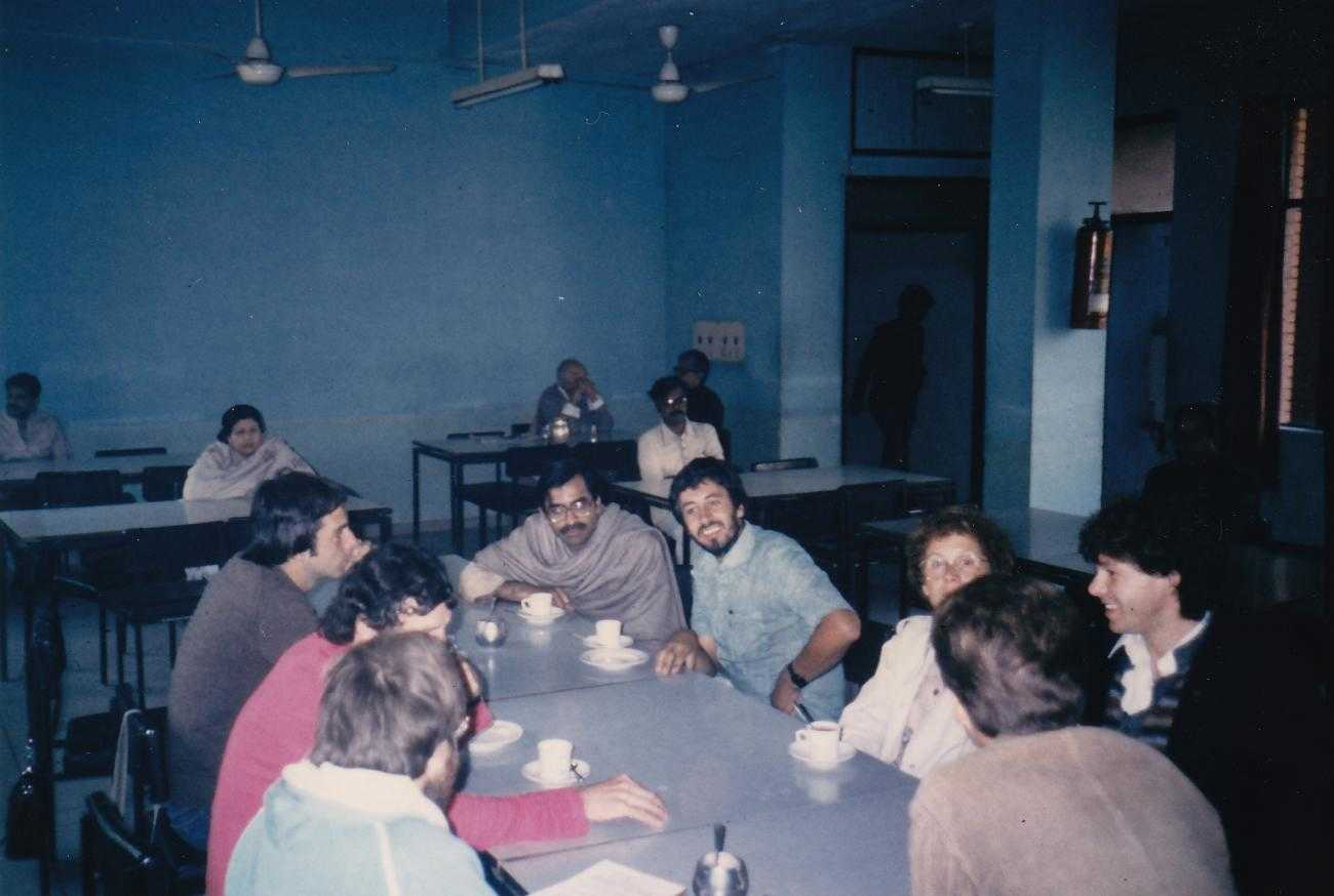 New Delhi, hostel of the Gandhi Peace Foundation in January 1986 before the Triennial in Gujarat, India. Photo:Wolfram Beyer