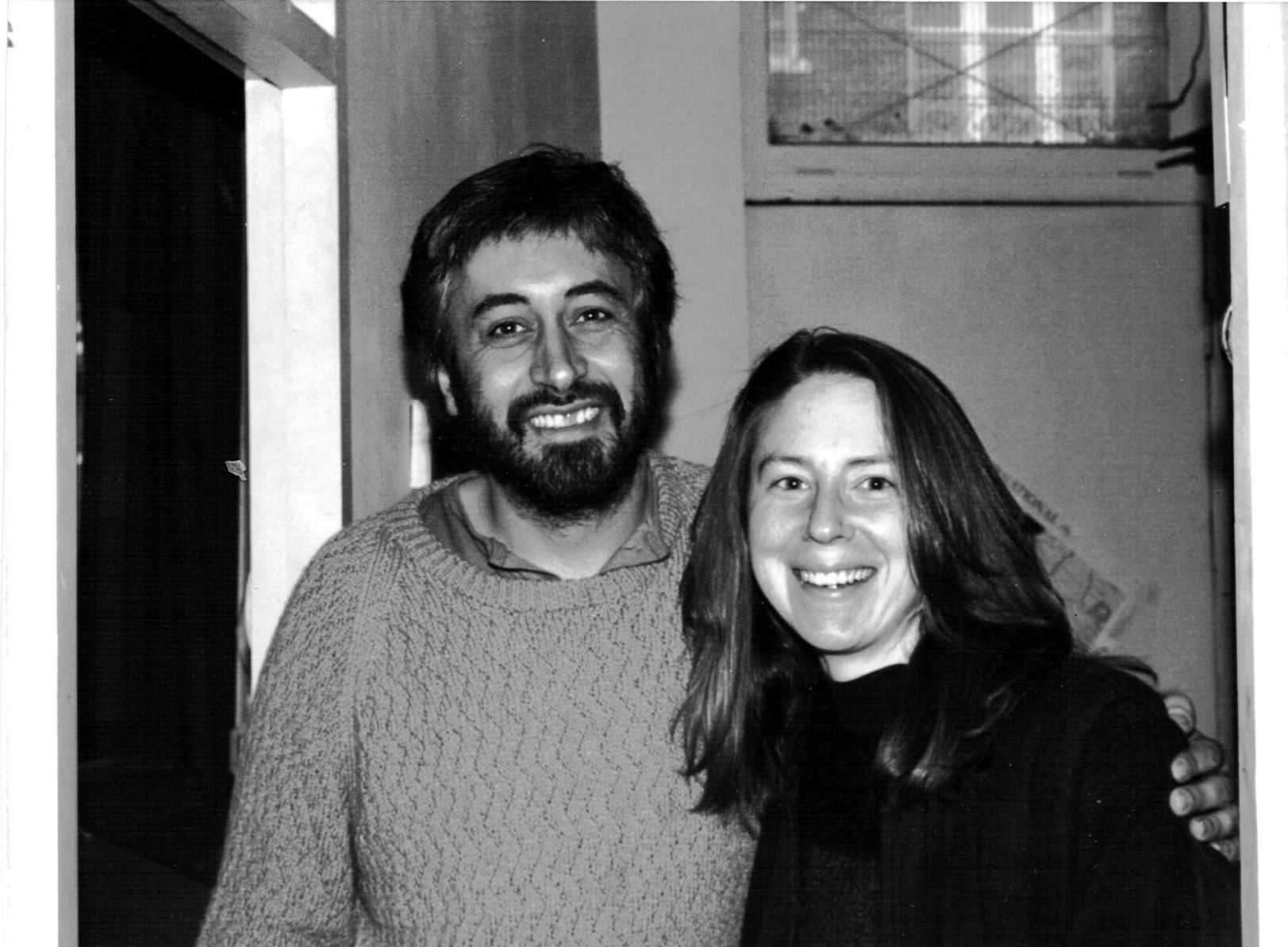 Howard with Jenna Stephens, WRI office volunteer from Alaska, 1992