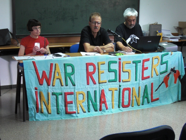 2011 Barcelona serminar against war profitering, with An Feltham and Pere Ortega