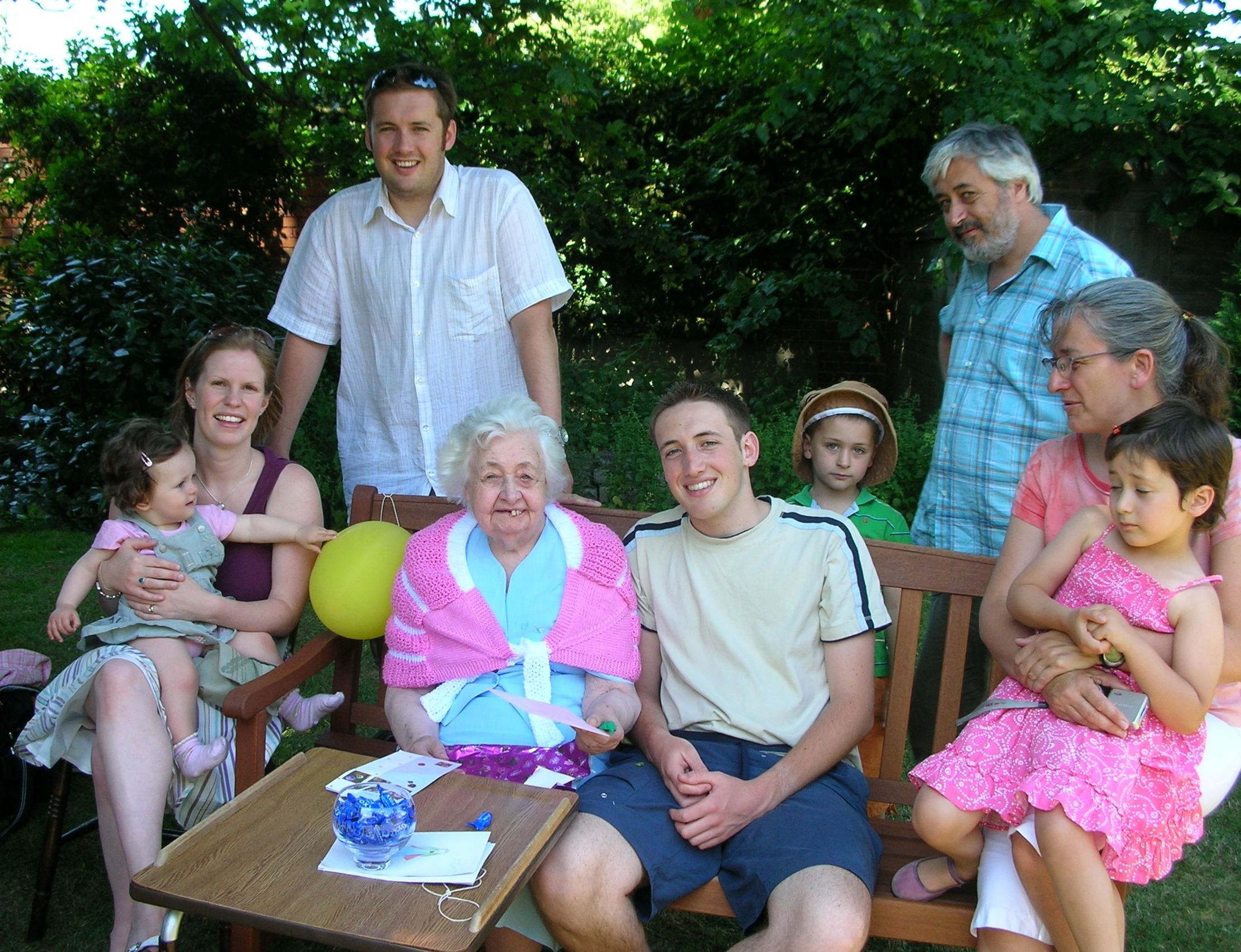 2006 celebrating his mother's birthday