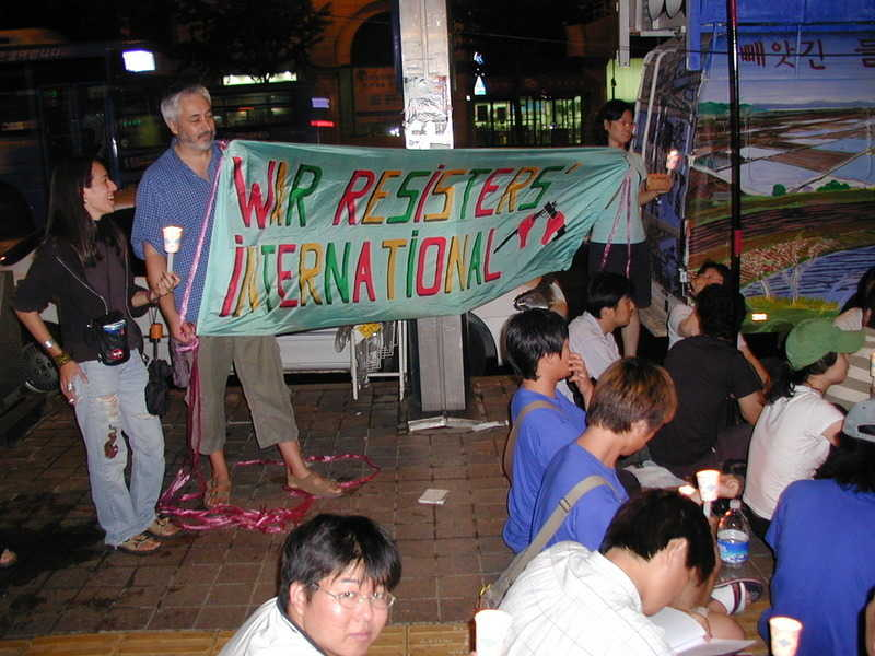 Demonstration against military base expansion during Council 2005, Seoul, Korea