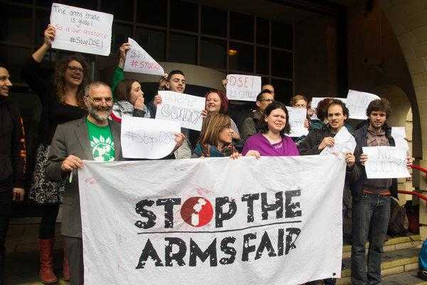 Stop the Arms Fair activists after a trial in London