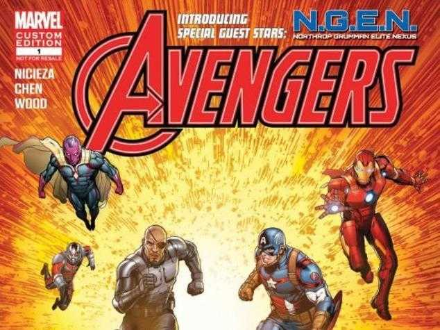 The cover of the comic designed by Marvel and Northrop Grumman