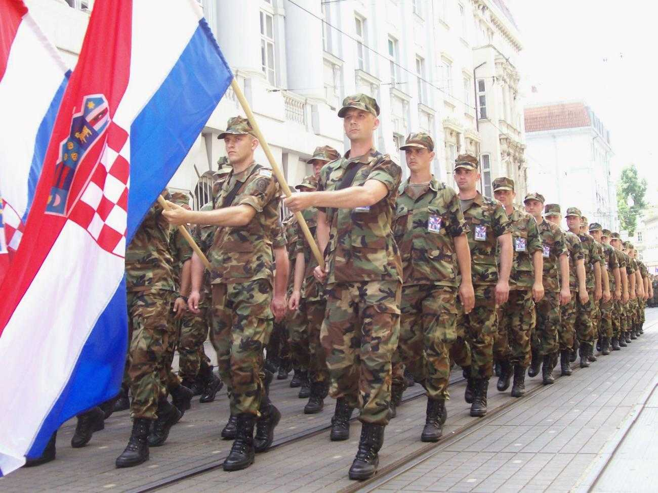 A military parade in Croatia