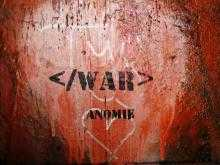 </WAR> on a red background