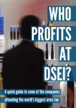 Cover of the Who Profits at DSEI? bookley