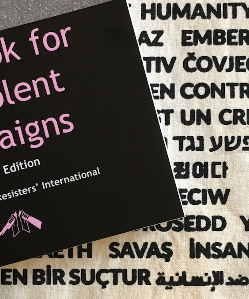 A copy of WRI's Handbook for Nonviolent Campaigns