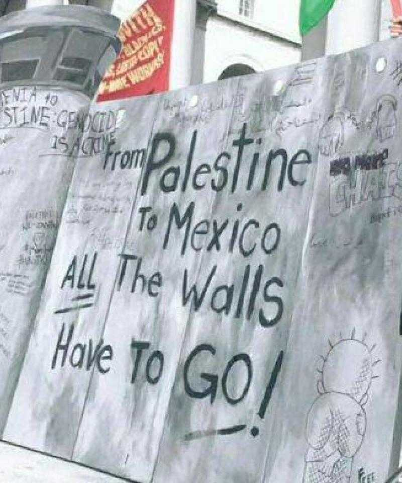 A protest against the border wall between Mexico and the USA