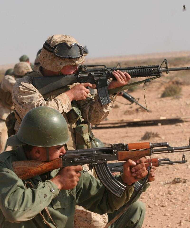 Moroccan and U.S. soldiers exercising together as part of a joint military exercise in March, 2007 / Photo: Wikimedia Commons