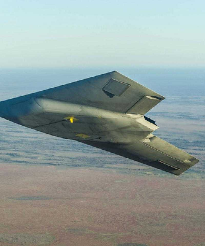 A Taranis aircraft in flight.