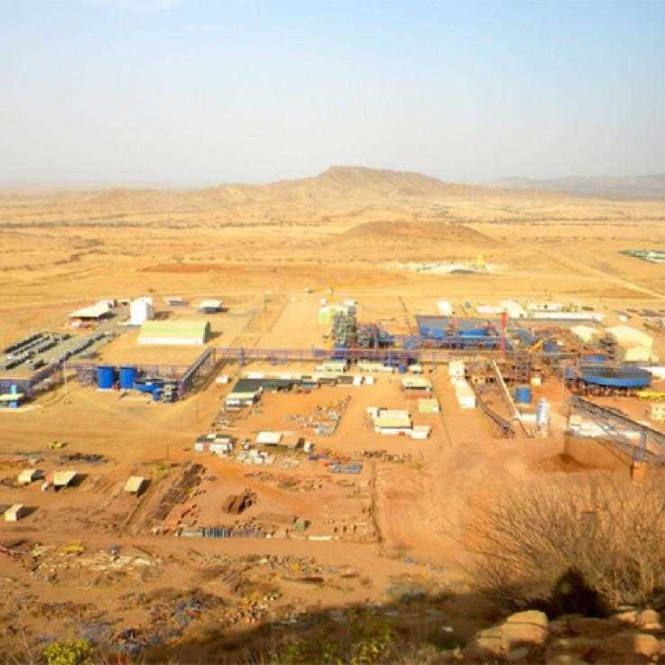 The Bisha Mine in Eritrea, part owned by Canadian company Nevsun Resources