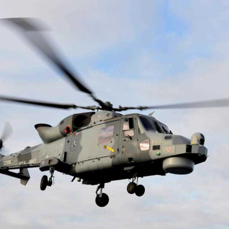 An AW159 Wildcat helicopter