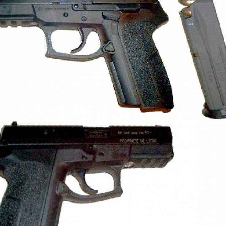 A photo of the handgun allegedly sold to Colombia via the USA