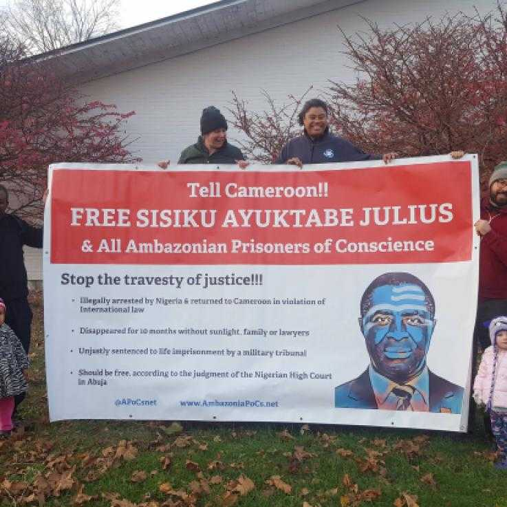 Solidarity action for Ambazonian prisoners of conscience