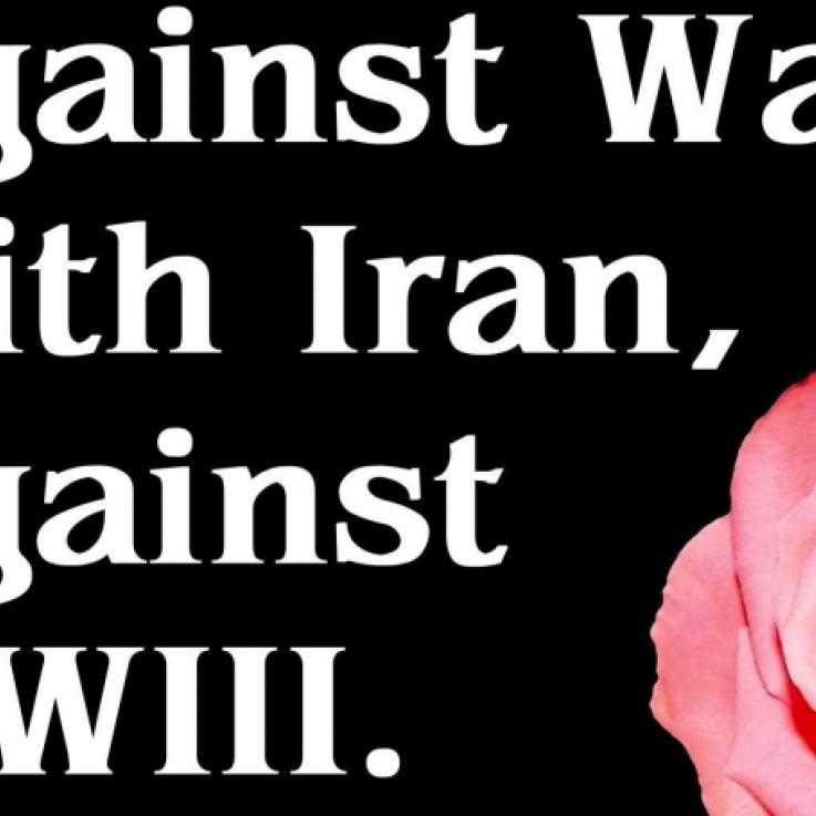 WRL Statement poster - An image of a rose with a message of solidarity written alongside it