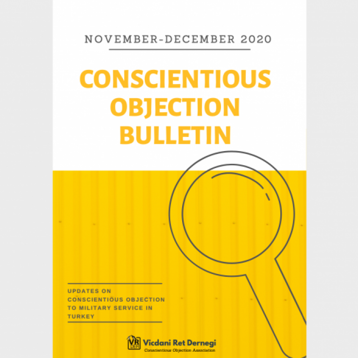 VR-DER conscientious objection bulletin cover page